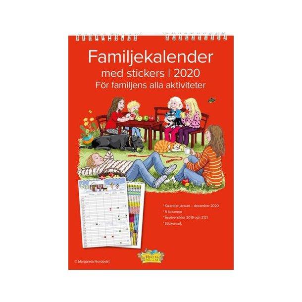Familjekalender 2020 med stickers